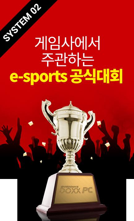 System 02                                 게임사에서 주관하는 e스포츠 공식대회